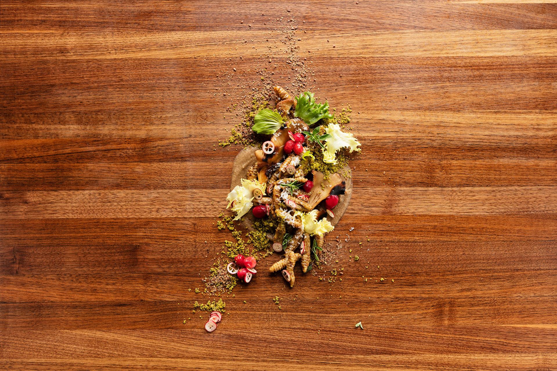 Salade sur planche du chef Fréderic Laplante