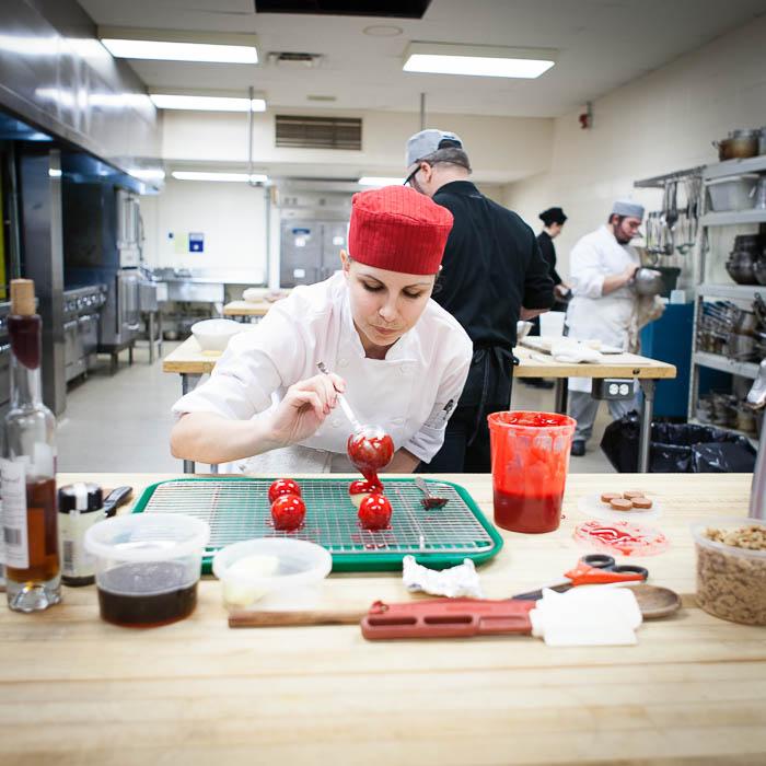 Photo culinaire en action pour Pomme Qualité Québec