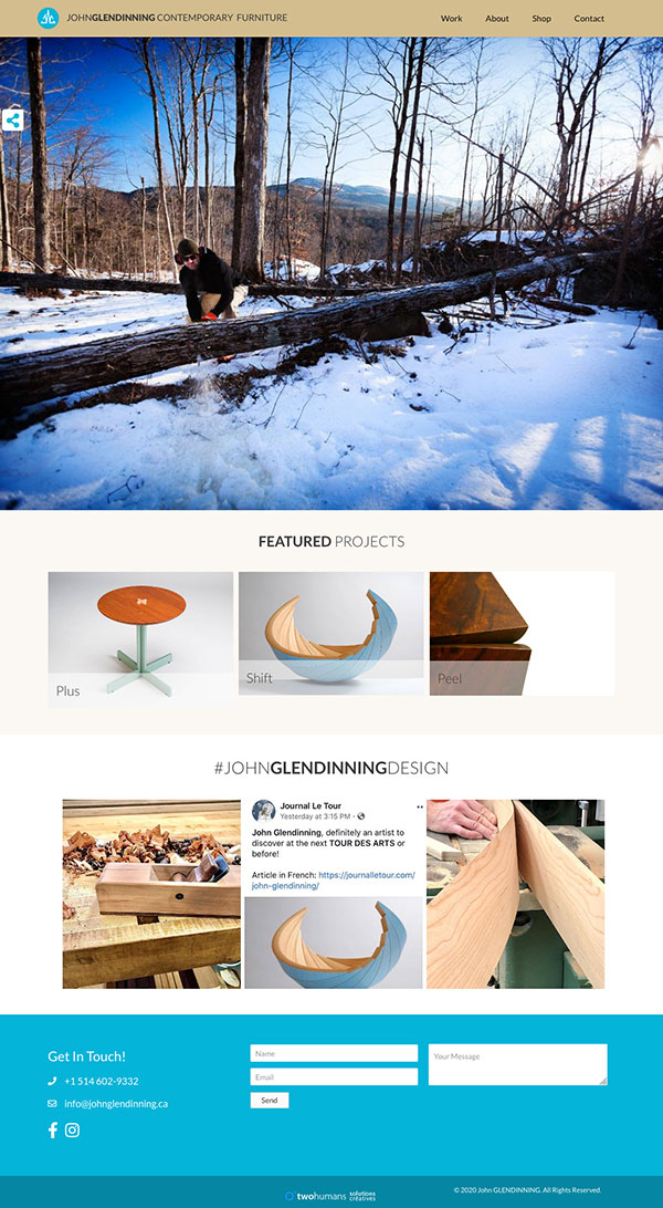 Homepage of John Glendinning Contemporary Furniture par two humans