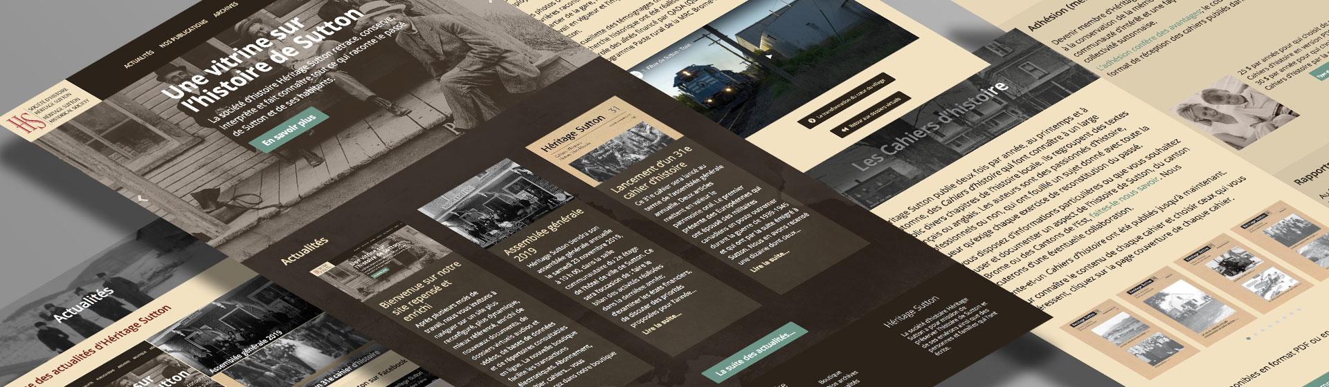 Site Web de Société d'histoire Héritage Sutton par two humans