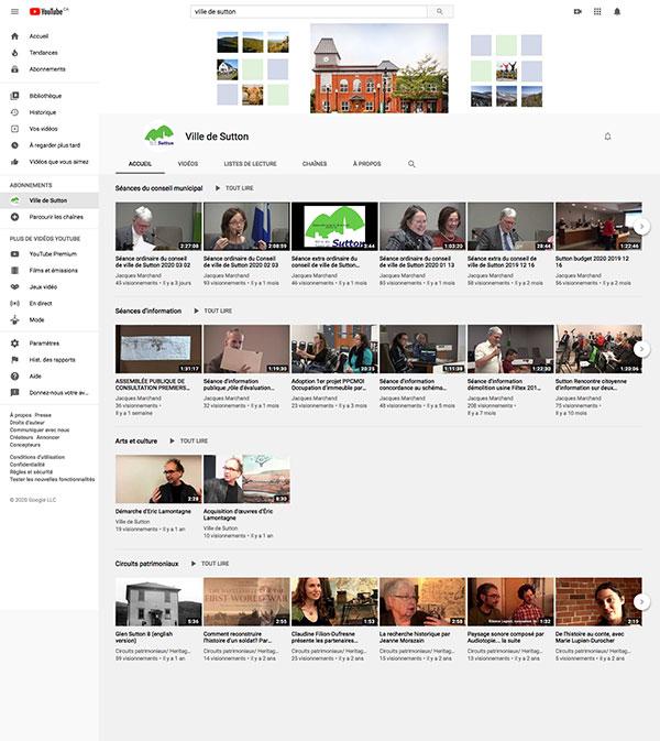 Compte YouTube de la Ville de Sutton par two humans