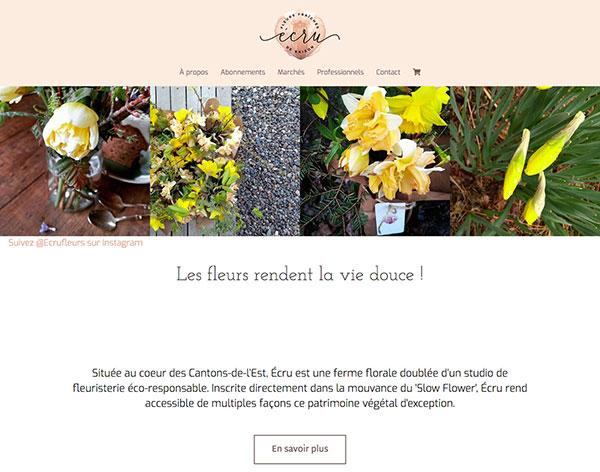 Site de commerce électronique Écru Fleur par Twohumans