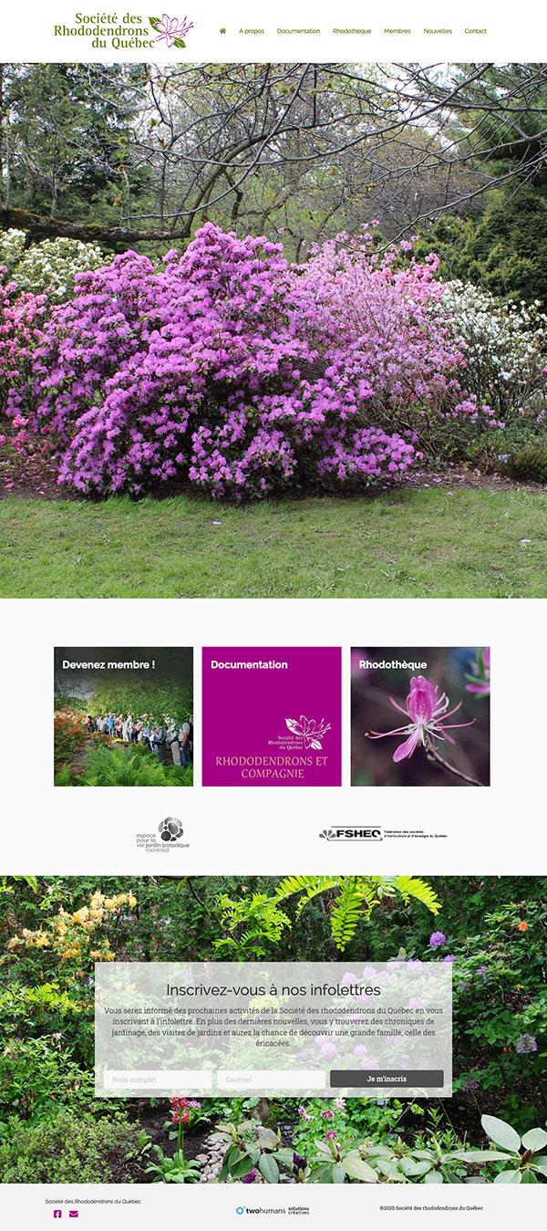 La Société des rhododendrons du Québec - Page d'accueil par Two Humans