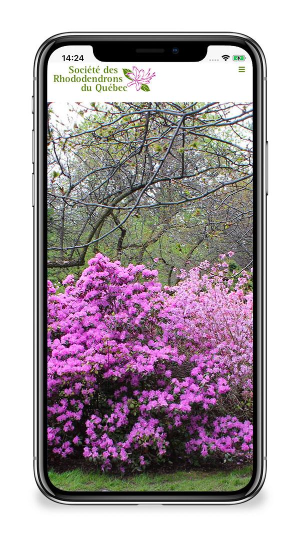 La Société des rhododendrons du Québec - Page d'accueil mobile par Two Humans